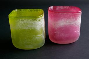 ドイツ製スクエアガラス花瓶